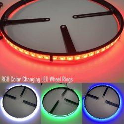Горячий светодиод светится колесо кольца кольца колеса кнопки Односторонняя SMD 5050 RGB LED стружки