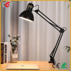 LED-Schreibtisch-Lampen-flexible Schwingen-Arm-Schelle-Montierungs-Lampen-Büro-Studio-Ausgangsschreibtisch-Licht-Tisch-Lampen-Buch-Licht-Studien-Tisch-Lampen