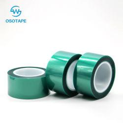 熱抵抗の緑ペットシリコーンポリエステル保護テープ
