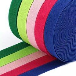 15/20/25mm cinta elástica High-Elastic Banda elástica de la banda de goma de la línea elástica encaje bricolaje recortar la costura de la banda de cintura Accesorios vestido elástico