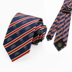 Venda por grosso Tecidos Jacquard logotipo personalizado de retenção do pescoço, 100% gravatas de seda tecidos laços Pescoço Mens Tie