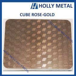 Rose Gold Folha Padrão decorativos em aço inoxidável