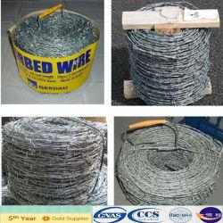 電流を通された有刺鉄線の網(ISO9001)
