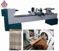 Il doppio di legno della taglierina dell'alto rendimento fila la macchina rotativa di legno di CNC del tornio della doppia lama