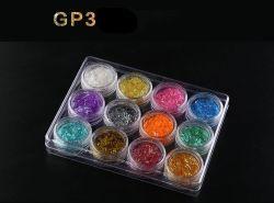 Venta caliente Multicolor brillando Glitter acrílico para uñas Nail Art polvo para la belleza