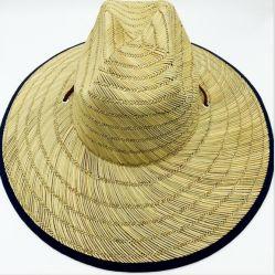 大きい縁が付いている性質の夏の麦わら帽子のソフト帽の帽子のライフガードの帽子のカーボーイ・ハット浜の帽子