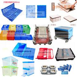 صندوق بريد بلاستيك حجم التداول سلة الطي اللوجيستي تخزين قديم فتح قالب بلاستيكي مربع