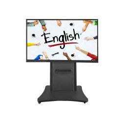 Aiyos 55 65 75 86 pouces écran tactile interactif double OS Smartboard Tableau pour la salle de réunion et les écoles