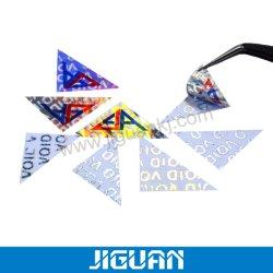 Het aangepaste Afgedrukte Afdrukkende anti-Vervalst van de Laser van de Sticker van het Hologram Nietige Handelsmerk van het Zelfklevende Etiket van de Stamper Duidelijke