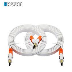Cable HDMI 1080p HDMI Flat Cable, Cable HDMI de alta velocidad - compatible con vídeo, 4K a 60 Hz, 3D, 2160p 6FT