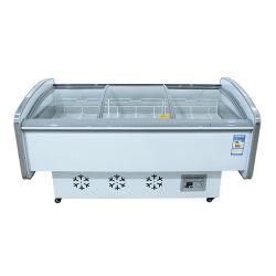 Horizontaler Kühlraum, gekühltes Meerestier-Glas, flaches Essen-Verkaufsmöbel, inländischer Kühlraum, Nahrungsmittelschrank-Hersteller