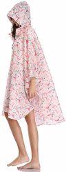 핑크 컬러 플라밍고 레인코트와 우산 세트 걸스 레인코트재킷 여성용 방수(후드 포함