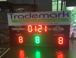 شاشة عرض لوحة تسجيل LED للوح مؤشر الضوئي الخاص بكرة السلة الإلكترونية الرقمية المحمولة