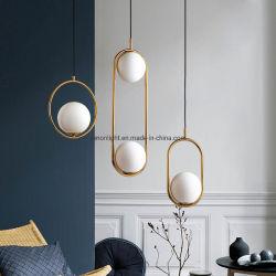 Lustre ovale pour décoration maison LED Lampe moderne de l'intérieur de la télécommande