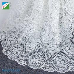 Tissu de polyester de cils dentelle robe de mariée robe de mode ou de commerce de gros