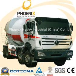 Gebruikte Beiben North Benz betonmixer truck (6X4) met Mercedes Benz-technologie
