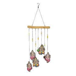 Hausgarten-Dekor-kreative bunte Metallspinner-Wind-Zarge mit Kristallkugel