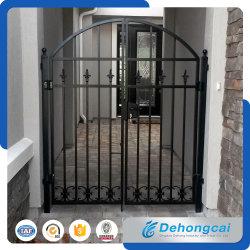 Puerta negra durable del hierro de Wrough de la alta calidad en diseño de la parrilla