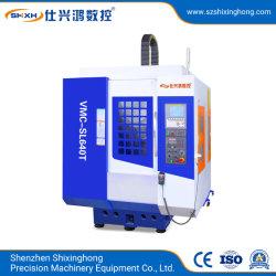 Alta velocidade e perfuração tocando a transformação de máquinas CNC (VMC-SL640T) para as peças de metal Hardware, ferro, alumínio cobre, zinco, aço, processamento de ligas