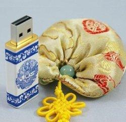 中国陶磁器USBのフラッシュドライブ