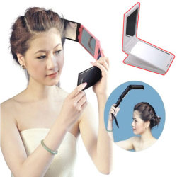 Faltbare kompakte Kosmetik bilden Spiegel