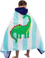 """Детей в масках полотенце для мальчиков девочек малыша, мягкой хлопковой Surf Poncho изменение халаты для детей на пляже есть ванна, динозавров 30""""x50"""""""