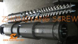 La fabricación de tubos de PVC de doble tornillo cónico bimetálica barril