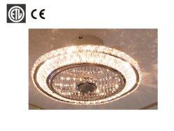 Van het LEIDENE van het kristal van de LEIDENE van de Lamp Plafond van de Ventilator het Licht van het Plafond van de Vrouw van de Controle van de Telefoon van Dimmable 72W Verandering van de Kleur voor Woonkamer, het Plaatsen Zaal