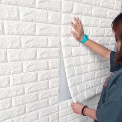 3D自己接着壁紙ののどの泡の実質の煉瓦効果の壁はTVの壁のソファーの背景の寝室の台所居間のための壁パネルをタイルを張る