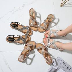 Nieuwe Boheemse Met de hand gemaakte Bloem om Sandals van de Hoofd van de Teen van de Manier Wilde Vrouwen van de Tendens