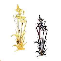 [ديي] يسكن جدار ملصق مائيّ أكريليكيّ فنّ [3د] مرآة زهرة جدار لاصق