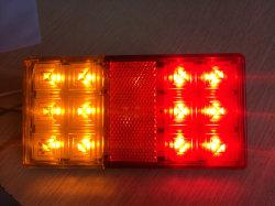 Reboque a máquina com luzes LED