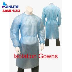 CE/FDA AAMIのレベル1/2/3の低価格の保護衣服の使い捨て可能な隔離のガウン