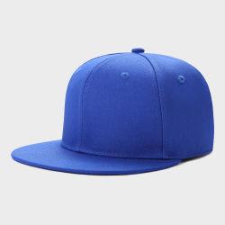Nouveau Bleu Womens broderie 6 panneau plat Snapback Brim chapeaux