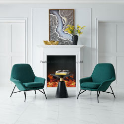 現代簡単な余暇の椅子を食事するファブリックリクライニングチェアの椅子
