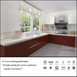 Anti-Scratched UV brillante únicamente las puertas de armario de cocina de MDF (ZH-6036)