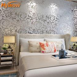 ورق حائط من الذهب ورق حائط ثلاثي الأبعاد خلفية الحرير ديكور المنزل