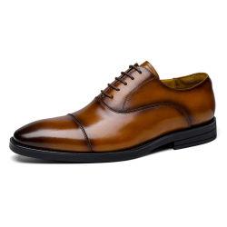 Lente en zomer nieuwe leren schoenen voor heren, leren Britse stijl kledingschoenen