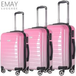 Заказ деловом стиле поездки чемоданов роскошь АБС багажа устанавливает розового цвета наборы багажного отделения