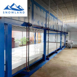 Bloc de haute qualité entièrement automatique machine à glace : surveillance et de contrôle PLC par ordinateur ou téléphone mobile.