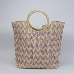 용지 크룩기 스트라이프 지퍼 마개잡이로 마개잡이는 부드러운 줄무늬가 있습니다 웨이브 베이지 핸드백