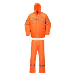 En471 黄色オレンジの安全レインスーツの耐浸透性