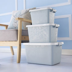 Source Factory Multifunktionales Wohnzimmer Schlafzimmer Durable Kunststoff PP-Container Behälter-Schrank Aufbewahrungsboxen mit Deckel und Griffen