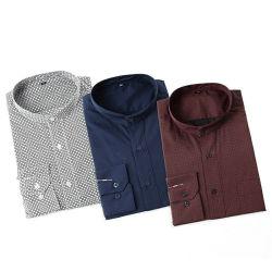 مصنع سعر TC 45s نسيج قماش مغطس صبغي مطبوع للرجال قمصان