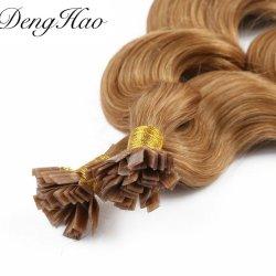 Haut de la qualité aucune effusion aucun enchevêtrement pointe plate Pre-Bonded Remy Hair Extensions humain