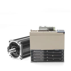 조각 기계를 위해 세륨 증명서 1kw AC 자동 귀환 제어 장치 모터와 운전사 220V 2500rpm 80mm 4nm