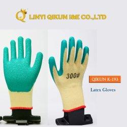 K-193 anilha ondulada PVC revestido de látex proteger a segurança industrial de trabalho T/C luvas de trabalho de algodão