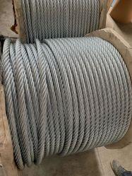 الجزء الصلب Rope 6X19 من الجزء الصلب من الكابل المحلفن Acero De Cable 1 بوصة