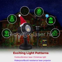 Piscina Greenblue estrella se mueve la luz del láser para el diseño de jardines iluminación