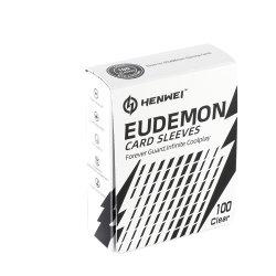 100CTゲーム(透過白)を集めるMtg Pokemonのための標準大きさで分類されたトレーディングカードの袖が付いているEudemonのカードの袖